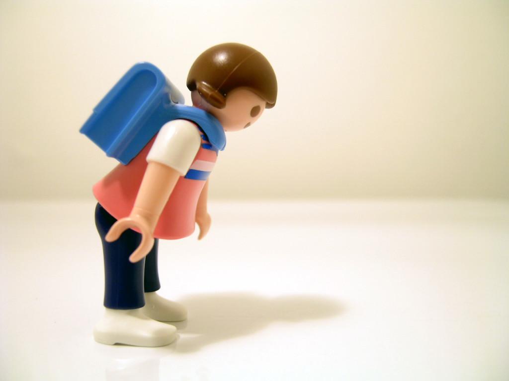 backpack figurine