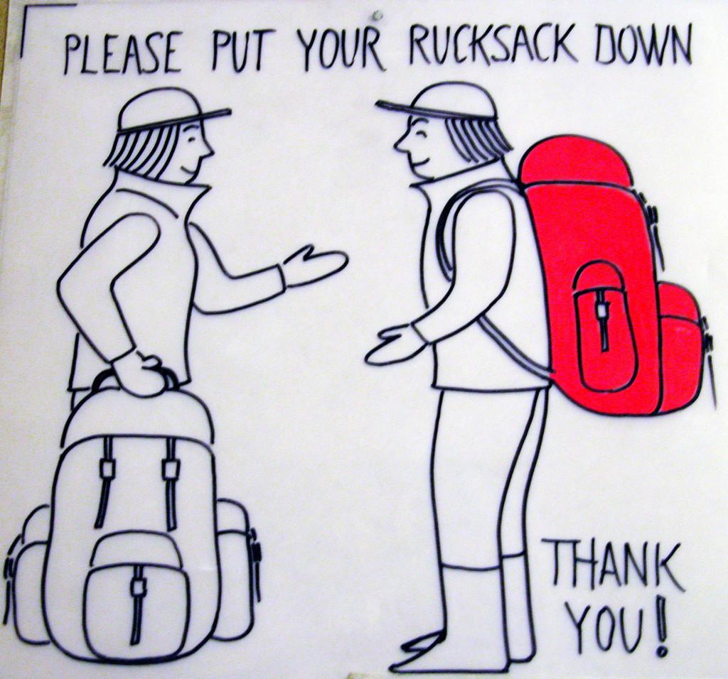rucksack sign